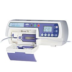 smiths medical graseby 1200 white and purple infusion pump with digital screen