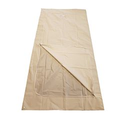 full image of regular adult white peva u zip body bag