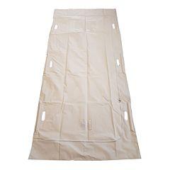 full size image of peva SL57 white body bag with white background