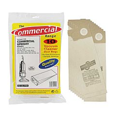 Outer pack of 'The Commercial Range' of hoover bags with the inner contents next to it.