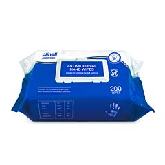 200 flow wrap of clinell antibacterial hand wipes