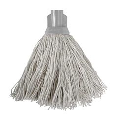 White mop with a grey socket.