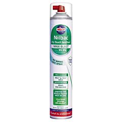 Image of front of nilbac ndt750 white and green aerosol