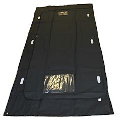 full size image of peva SL57 black body bag with white background